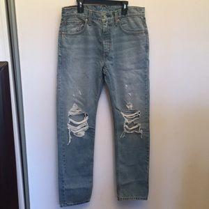 Levi's men's factory distressed jeans